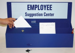 suggestion box - Three keys to really listening to your employees - Syndeo