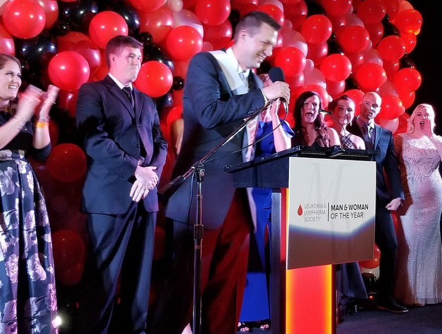 Steckley wins Leukemia & Lymphoma Society's 'Man of the Year' competition