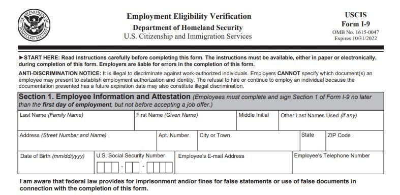 New version of Form I-9 now available