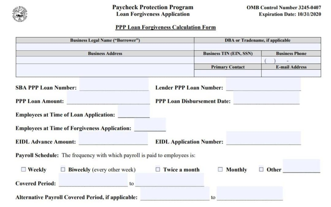 SBA details PPP loan forgiveness application, calculation instructions